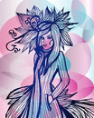 Free Lady In Fantasy Fashion Dress Stock Image - 21724581