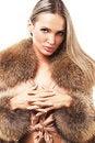 Free Beautiful Model In Fur Stock Images - 21729344