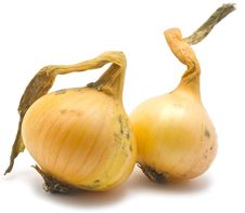 Free Two Onions Royalty Free Stock Photography - 21720987