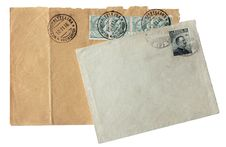 Old Envelopes Royalty Free Stock Images