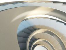 Free Abstract Spiral Staircase Stock Photography - 21721272