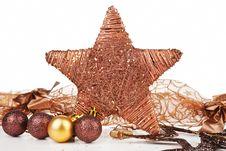 Free Christmas Star Decor. Stock Photography - 21722632