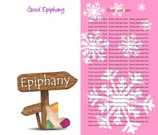 Free Background For The Feast Of The Epiphany Royalty Free Stock Photography - 21723587