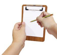 Free Blank Notepad Isolated Royalty Free Stock Photo - 21724935