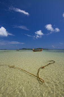 Fisher Man Boat In Rawai Beach. Royalty Free Stock Photos