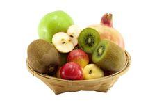 Free Mix Fruit On Basket Royalty Free Stock Photography - 21725627