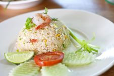 Free Thai Shrimp Fried Rice Royalty Free Stock Photo - 21725655