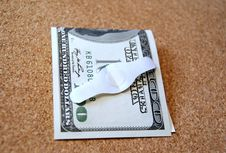 American Dollar Bill And A Band Aid Royalty Free Stock Photography