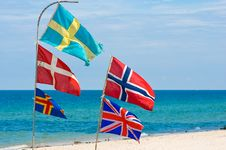 Free Nation Flags,Hua Hin Beach Thailand Royalty Free Stock Image - 21727026