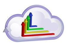 Free Cloud Curve Symbol And Graphic Chart Stock Photos - 21727113