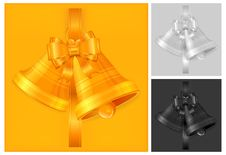 Free Christmas Bells In Gold Royalty Free Stock Images - 21727209