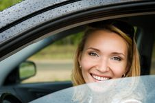 Free Smiling Woman In The New Car Stock Photos - 21729043