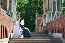 Romantic Bride And Groom Royalty Free Stock Photo