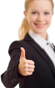 Free Businesswoman With Thumb Up Stock Images - 21729604