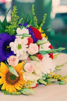 Free Bride S Bouquet Royalty Free Stock Photo - 21730455