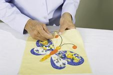Free Sewing Butterfly Stock Image - 21733971