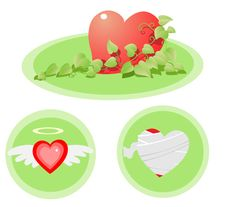Many Kind Of Heart Royalty Free Stock Image