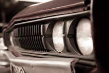 Free Old Car Headlights Stock Image - 21738711