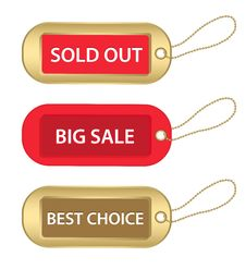Free Gold And Red Tags Stock Photos - 21738723
