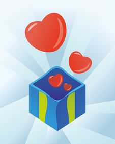 Free Box With Hearts Stock Photos - 21740603