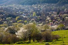 Village In The Mountains Royalty Free Stock Photography