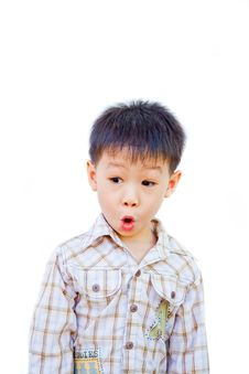 Free Asian Boy With Surprised Face Stock Photos - 21742583