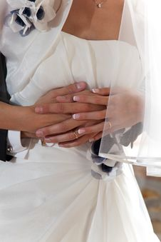 Free Hands Of Bride And Groom With Rings Stock Photo - 21744040