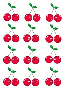 Free Fun Cherry Stock Images - 21744244