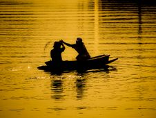Free Rower In The Golden Light Stock Photos - 21745573