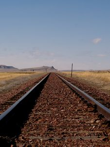 Free Railroad Track To The Horizon Stock Images - 21746794