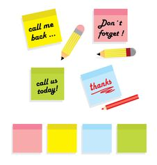 Free Post It Messages Royalty Free Stock Photography - 21746827