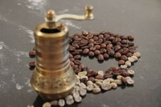 Free Coffee And Coffee Grinder Stock Photo - 21747170