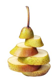 Free Pear Slices Royalty Free Stock Photo - 21749595