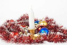 Christmas And New Year Decoratio Stock Images