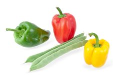 Free Green Beans With  Peppers Royalty Free Stock Images - 21750089