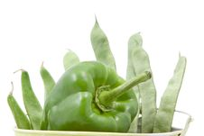 Free Green Beans And Peppers Stock Photography - 21750112