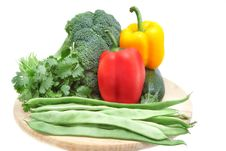 Free Vegetables On A Wooden Board Royalty Free Stock Photos - 21750288
