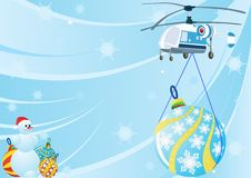Free A Helicopter With Christmas Decorations Stock Photos - 21754423
