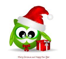 Free Owl Santa Claus Royalty Free Stock Photography - 21754497