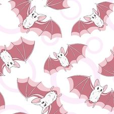 Free Bats Pattern Royalty Free Stock Images - 21757599