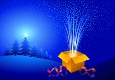 Free Gift -Box For This Season Stock Images - 21761804