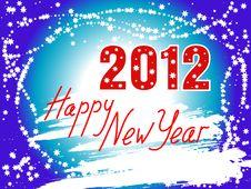 Happy New Year 2012 Background Stock Image
