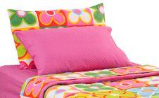 Free Bedding. Isolated Stock Image - 21763421