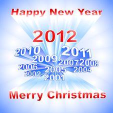 New Year 2012 Light Background Royalty Free Stock Image