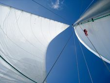 Free Sails On The Blue Sky. Stock Photography - 21765462