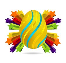 Free Gold And Swirl Easter Egg Symbol Stock Photography - 21767762