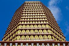 Golden Buddha Statue. Stock Photo
