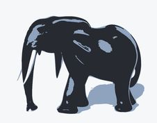 Free Silhouette Of Elephant Royalty Free Stock Images - 21768209