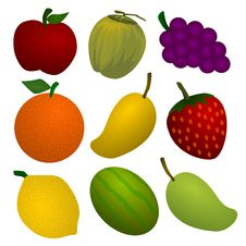 Free Fruit Collection Royalty Free Stock Images - 21768919