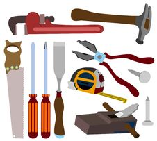Carpenter Tools Royalty Free Stock Photography